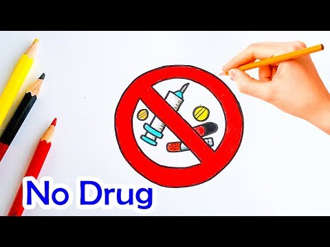 How to Draw International Day against Drug Abuse :No drug : วันต่อต้านยาเสพติด lovely art
