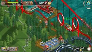 let s play rct classic leafy lake ep 6 wooden roller coaster