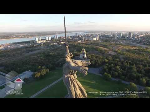 Аэросъемка монумента Родина-мать (Мамаев курган, г.Волгоград)