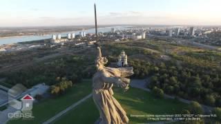 Аэросъемка монумента Родина мать Мамаев курган г.Волгоград