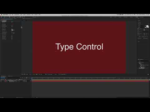 Type Control After Effects 2020