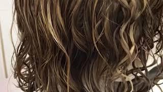 видео Химическая завивка на крашеные волосы