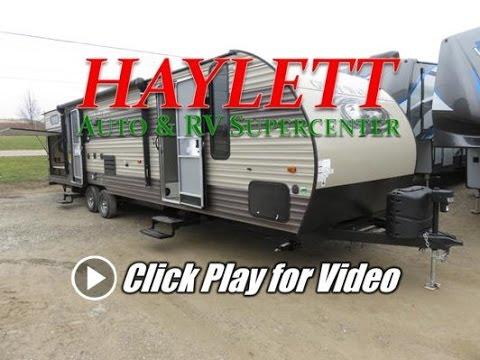HaylettRV - 2018 Grey Wolf 29TE Bath Entry Bunkhouse Outside Kitchen Travel Trailer
