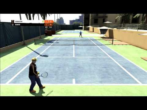 GTA 5 Online - Tennis rage quitter