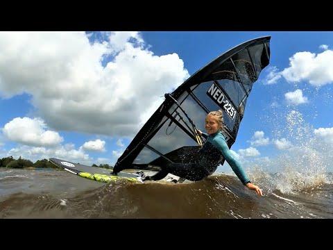 Choppy windsurf session - FIRST VLOG!