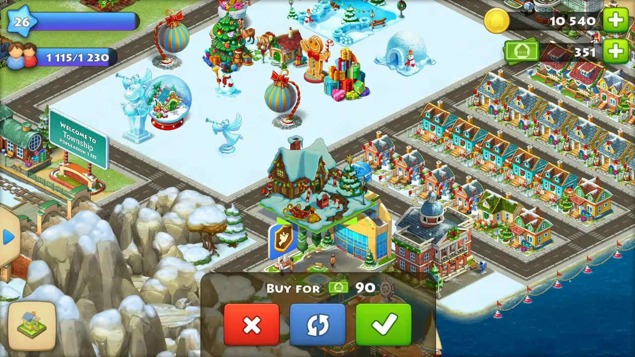 township andriod game christmas decorations 1080p full hd