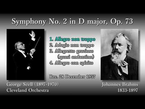 Brahms: Symphony No. 2, Szell & ClevelandO (1957) ブラームス 交響曲第2番 セル