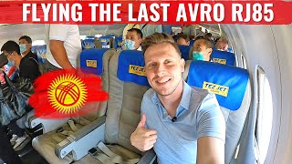 CRAZY TEZ JET! FLYING RARE PLANES IN KYRGYZSTAN MD83 & AVRO RJ85!