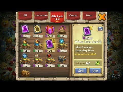 Opening Up 21 Prime Hero Card Ll L Castle Clash