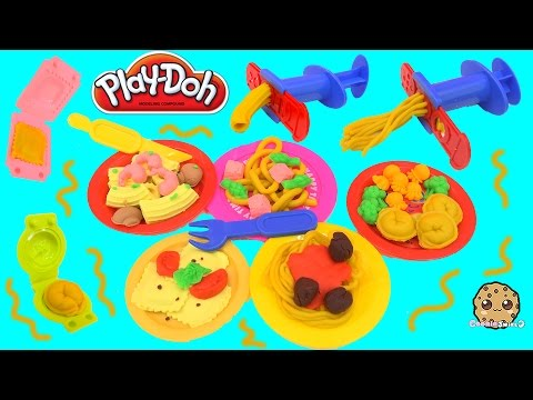 Playdoh Pasta House Spaghetti Play Doh Foods Maker Playset Toy Unboxing Video Cookieswirlc