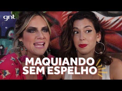 Giovanna Ewbank desafia Camila Coutinho a fazer make sem espelho    Amores do Gioh no GNT