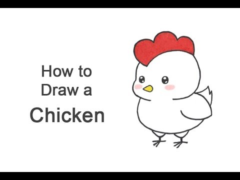 How to Draw a Chicken (Cartoon) - YouTube