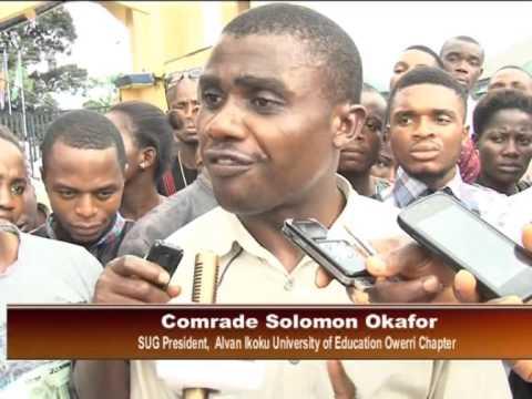 Alvan Ikoku University Of EducationStaff,Students  Riot Over Reversal Of Status
