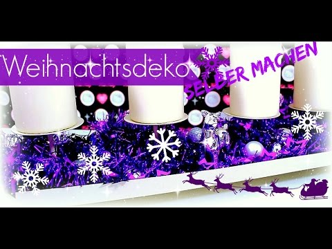 weihnachtsdeko basteln modernen adventskranz selber machen diy inspiration s ideen youtube. Black Bedroom Furniture Sets. Home Design Ideas