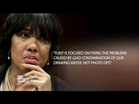 Trump tours Flint water crisis; Clinton releases health info