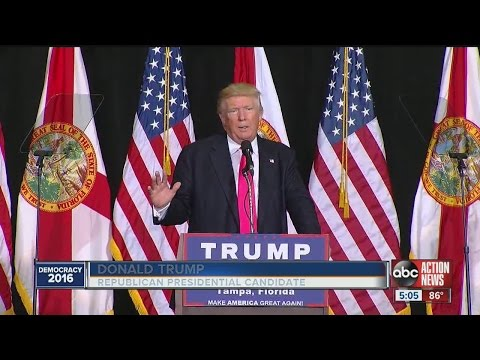 Donald Trump makes a stop in Tampa