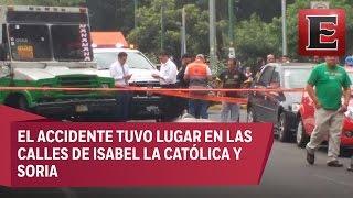 Microbús atropella a ciclista en calles de la Benito Juárez