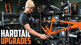 UPGRADING THE HARDTAIL WITH CUSTOM MTB PARTS!!