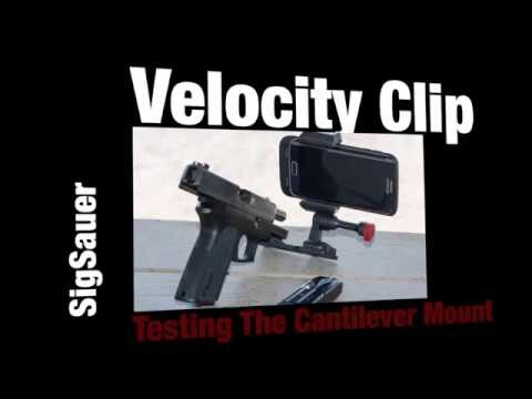Universal Cantilever Mounted To Sig Sauer With Velocity Clip
