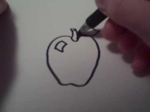 How To Draw A Cartoon Apple