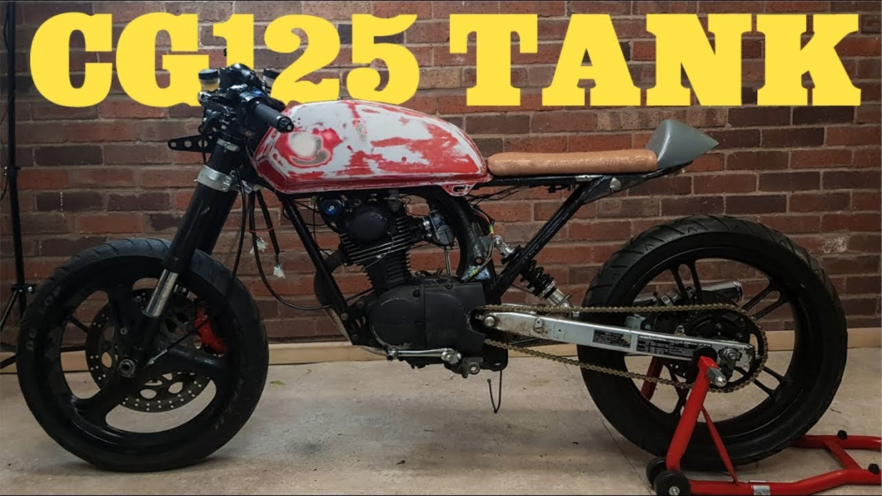 cb125 cafe racer build part 28 fitting a cg125 tank on a cb125 [ 1280 x 720 Pixel ]