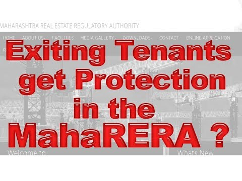 Exiting tenants get protection in the rera?