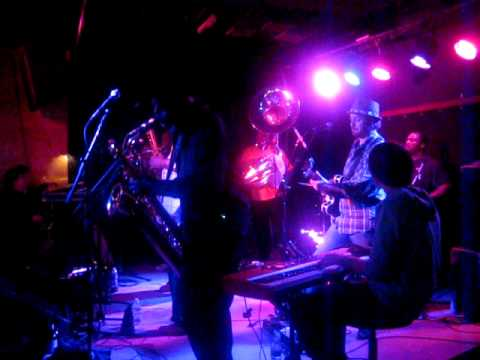 Sam Fribush jammin with Dirty Dozen Brass Band