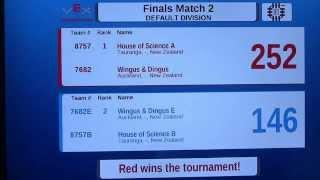 VEX Nothing But Net NZ Scrimmage 3 Finals - 7682 Wingus & Dingus - 398pts combined