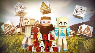 ÇIPLAK KIZLAR SOYUNUYOR! - Minecraft KARILI ŞANS BLOKLARI!