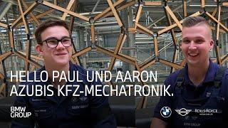 HELLO Paul und Aaron | Auszubildende KFZ-Mechatroniker Werk Leipzig |BMW Group Careers.