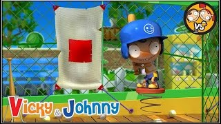 Vicky & Johnny | Episode 29 | PITCHING MACHINE | Full Episode for Kids | 2 MIN