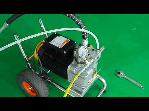 How To Setup And Use An Airless Paint Sprayer, Mortar Sprayer, HD520-By NUEXPECT