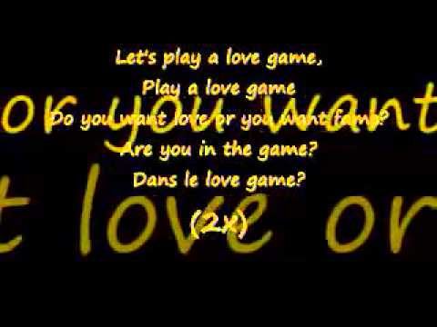 Lady gaga   love game    Lyrics on screen