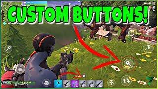 CUSTOM BUTTONS IN FORTNITE MOBILE! NEW BUTTON ADDED!! | Fortnite Mobile