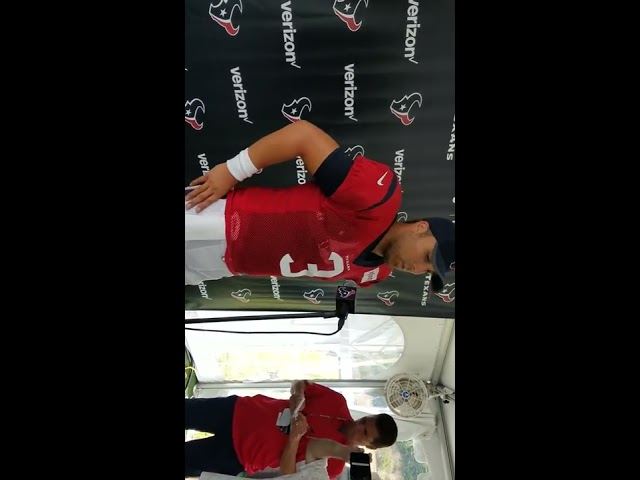 Tom Savage At Houston Texans Training Camp