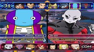 Dragon Ball Z Budokai Tenkaichi 3 - Zeno Sama Vs Jiren,Hit,Goku,Bill, PS2 MOD