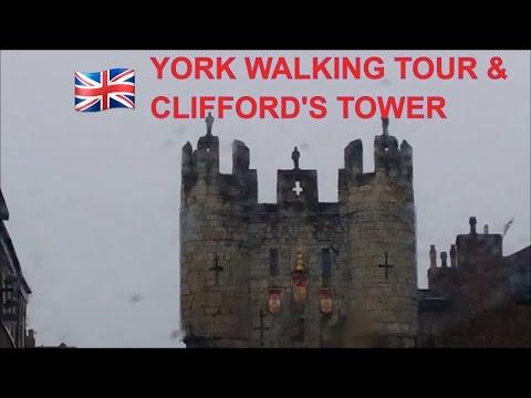 YORK CITY WALKING TOUR ENGLAND- YORK CITY WALLS WALK - see york minster