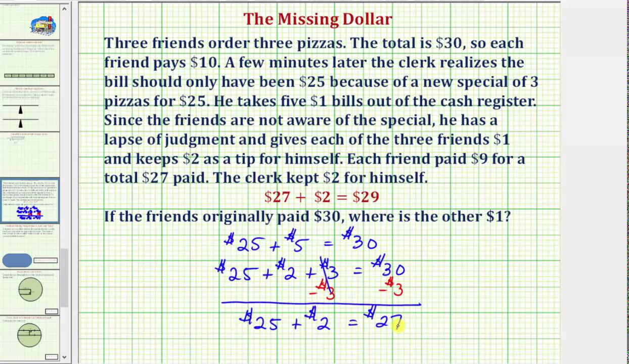 the missing dollar math riddle