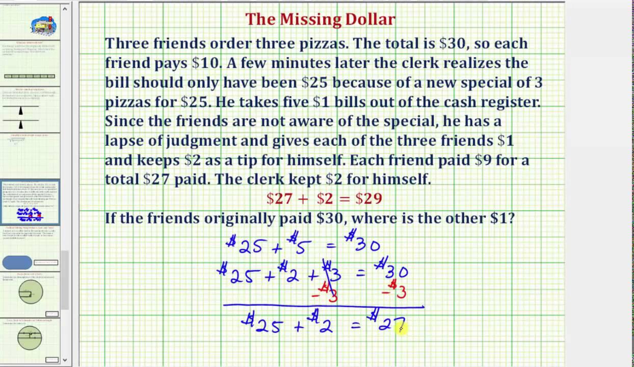 the missing dollar math problem