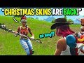 Telling kids rare Christmas Skins are BACK in the item shop on Fortnite... (I LIED!)