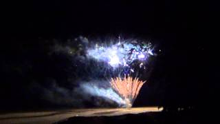 Firework display w/ 3 - 4 - 5 - 6 - 7 inch aerial shells