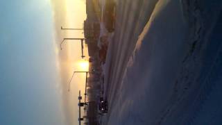 TWO SUNS in Alaska sunrise crazy footage must see!