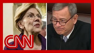 Sen. Warren's question takes aim at Chief Justice Roberts