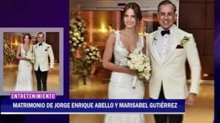 ASÍ FUE EL MATRIMONIO DE JORGE ENRIQUE ABELLO Y MARISABEL GUTIÉRREZ