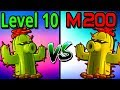 Plants vs Zombies 2 Compare Mastery 200 vs Level 10 Cactus PvZ 2 Gameplay