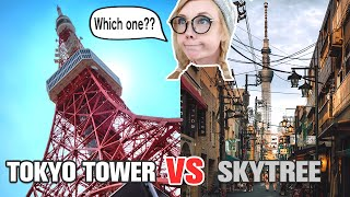Tokyo Tower VS SkyTree | Which one should you visit? | Japan Travel Vlog Review