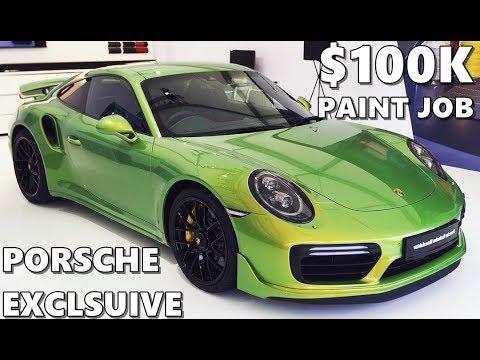 Paint Job Cost >> Porsche Exclusive $100,000 Paint Job - YouTube