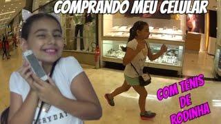 Comprando meu Celular com Tênis de Rodinha no Shopping  - Julia Moraes