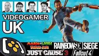 Rainbow Six Siege, Just Cause 3, Mario & Luigi: Paper Jam - VideoGamerUK Podcast