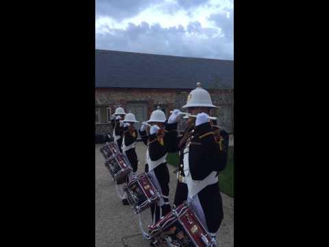 Royal Marines Band, Beating The Retreat At Wedding.